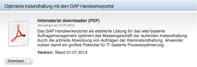Handwerkerportal GAP Download PDF